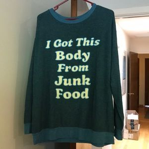 Wildfox EUC I Got This Body From June Food Sweater